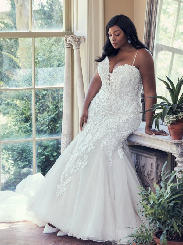 Fit-and-Flare Bridal Gown