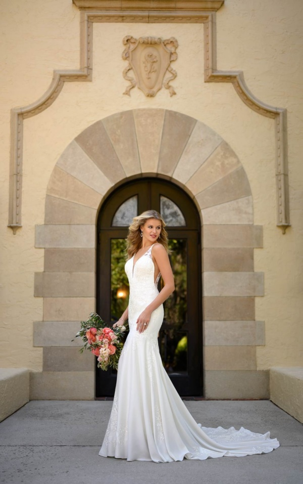 MODERN ROMANTIC FIT-AND-FLARE BRIDAL GOWN