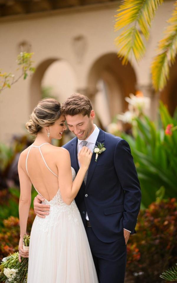 SHEER LACE HALTER WEDDING DRESS
