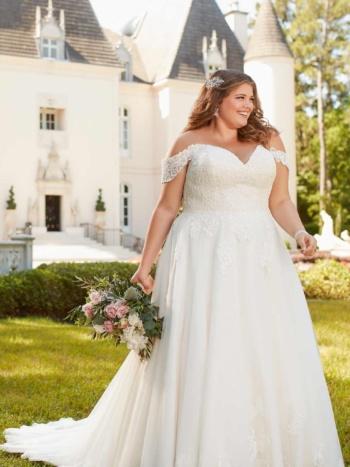 DREAMY A-LINE PLUS-SIZE WEDDING DRESS