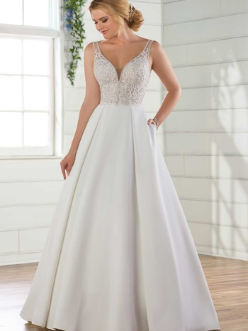 SATIN BALLGOWN BRIDAL GOWN