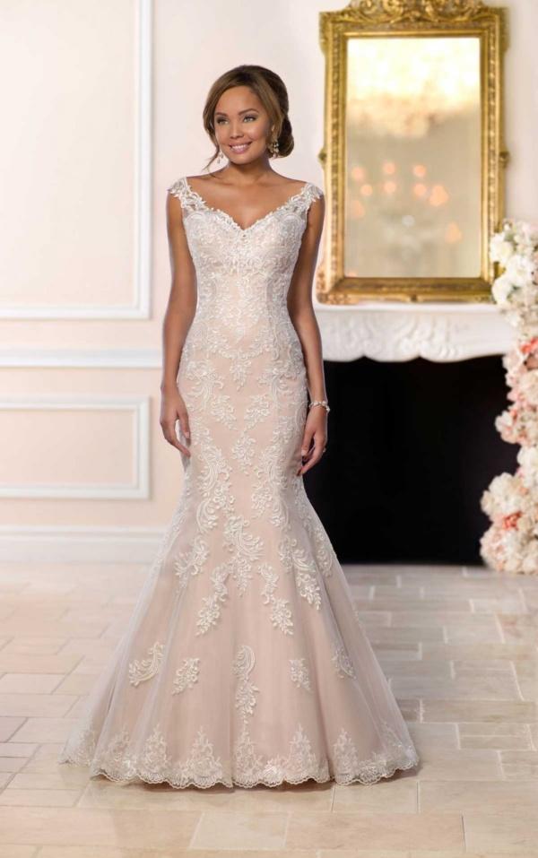 MODERN LACE MERMAID WEDDING DRESS